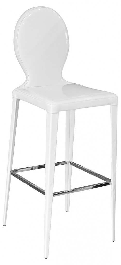 Tequila Bar Stool in White PVC