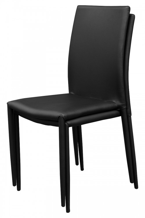 Dora Black Stackable Dining Chair