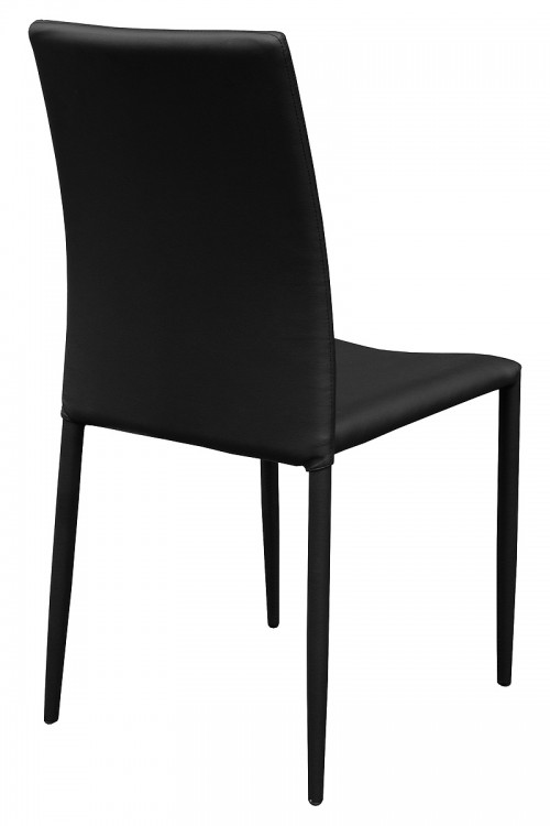Dora Black Stackable Dining Chair - Back