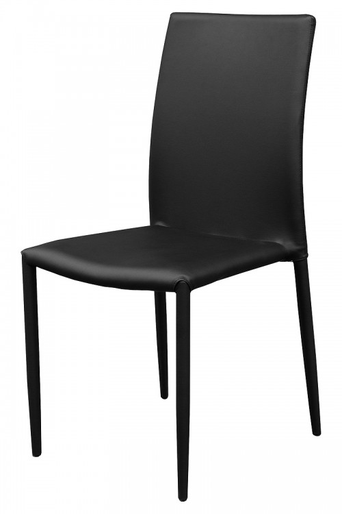 Dora Black Stackable Dining Chair - Front