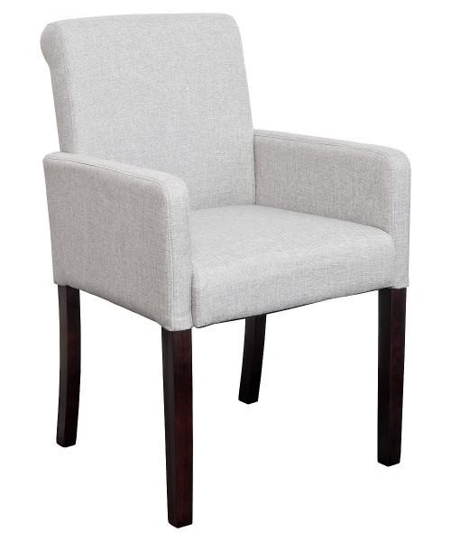Sadie Linen Tub Chair in Grey Fabric