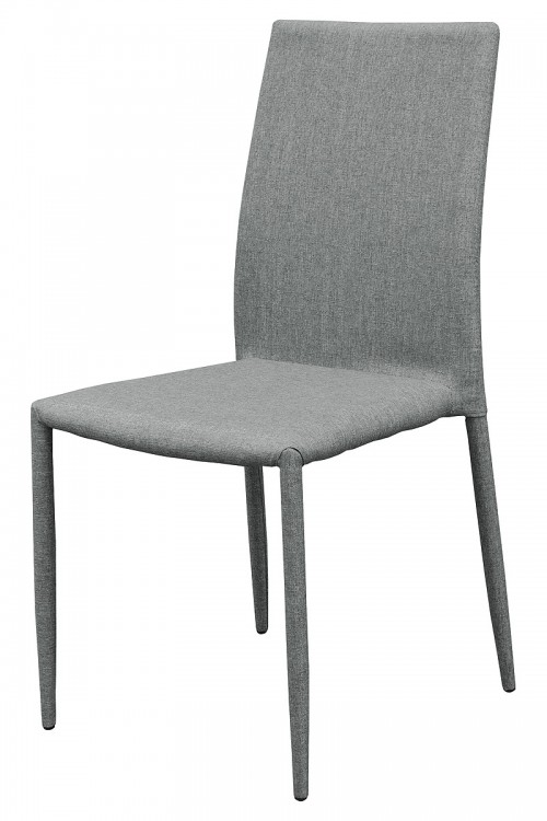 Selina Stacking Dining Chair - Grey - Front