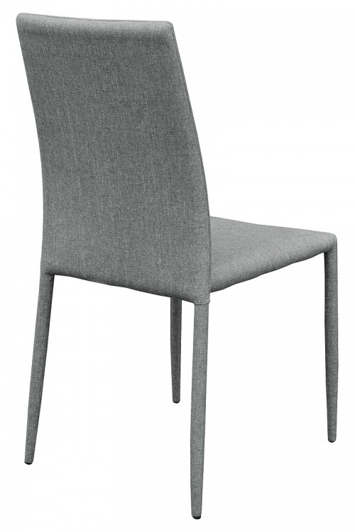 Selina Grey Stacking Dining Chair - Back