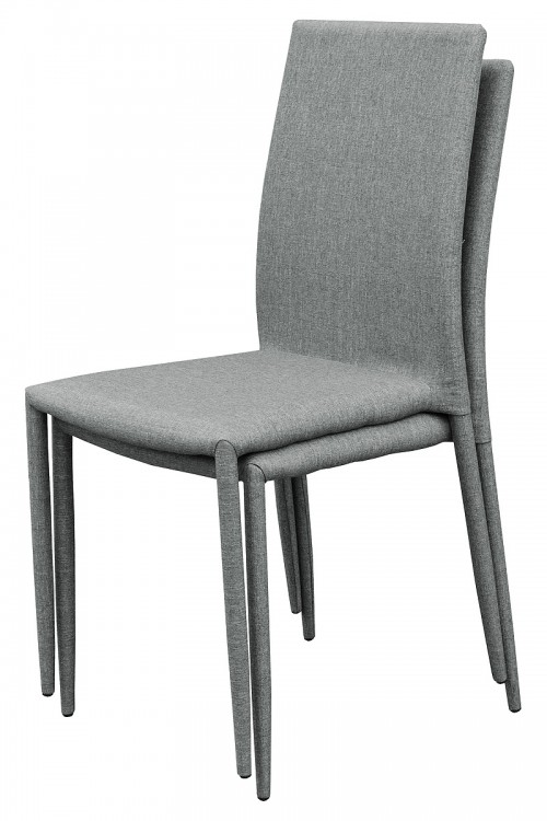 Selina Stacking Dining Chair - Grey