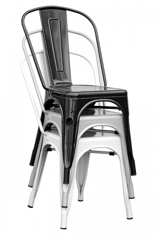Tolix Replica Metal Chair Stacked