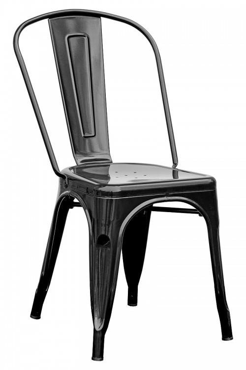 Tolix Replica Stacking Metal Chair - Black