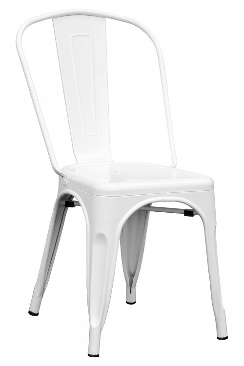 Tolix Replica Stacking Metal Chair - White