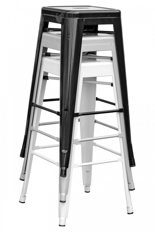 Tolix Replica Metal Bar Stool Stacked