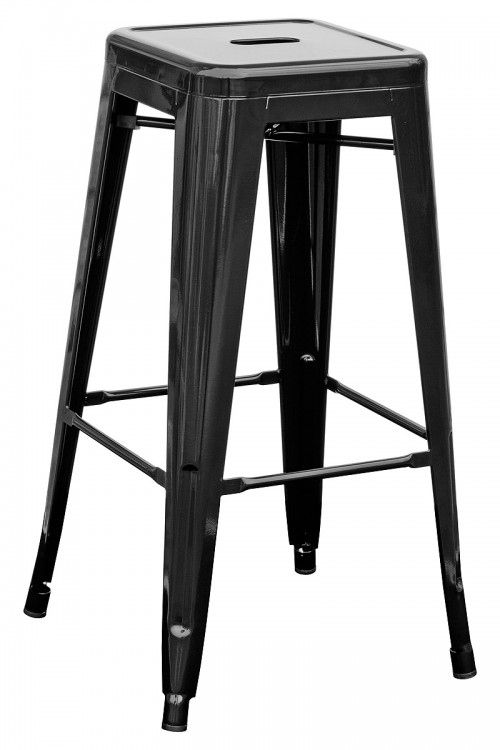 Tolix Replica Metal Bar Stool in Black