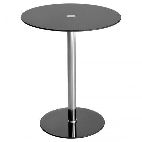 Glass Top Podium Table in Black