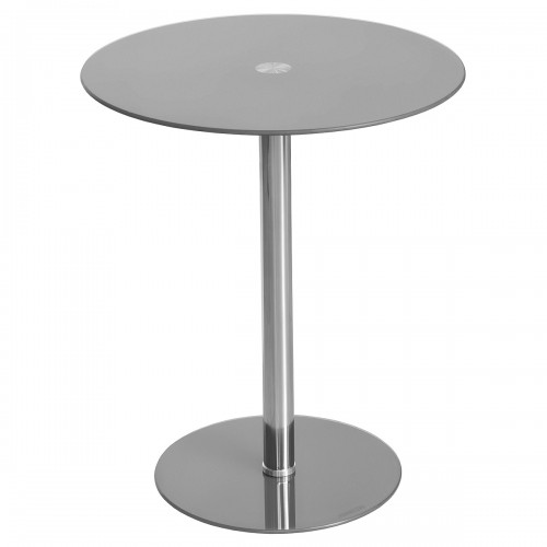 Glass Top Podium Table in Grey