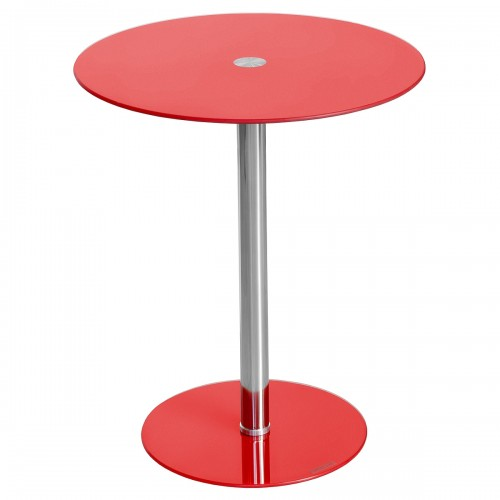Glass Top Podium Table in Red