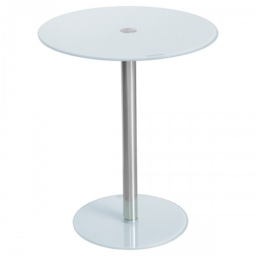 Glass Top Podium Table in White