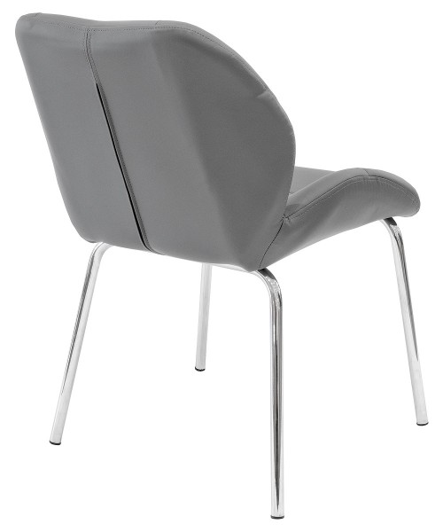 Dinky Bistro Chair in Grey - Back View