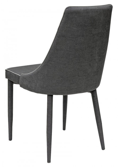 Duncan Dining Chair in Dark Grey - Back View