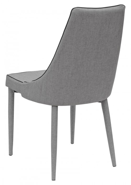 Duncan Dining Chair in Grey - Back View
