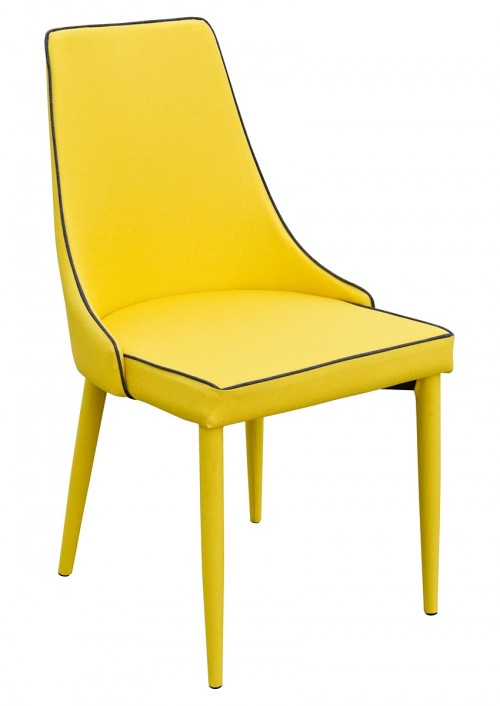 Duncan Dining Chair in Yellow