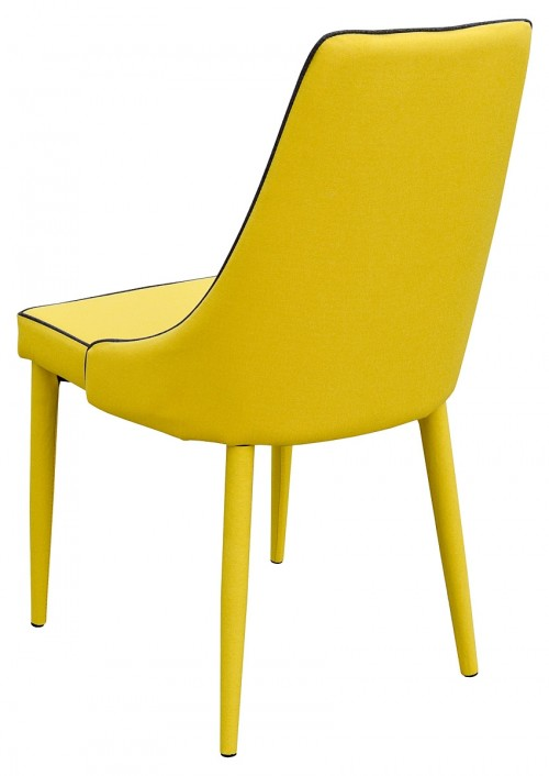Duncan Dining Chair in Yellow - Back View