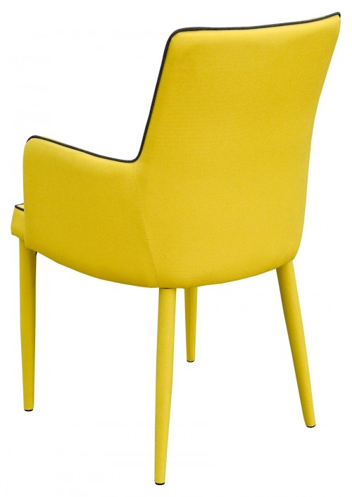 Duncan Dining Carver in Yellow - Back