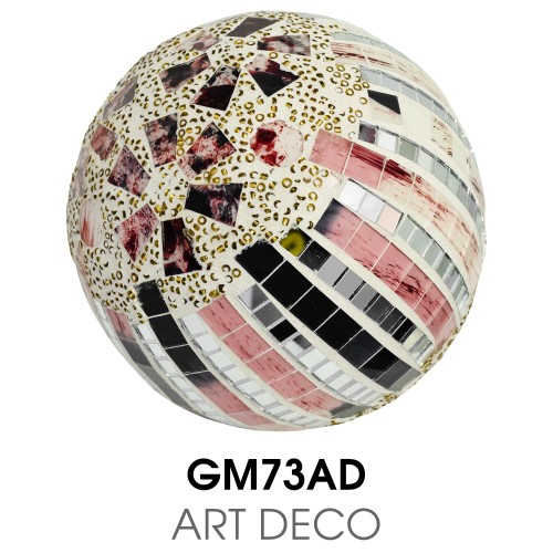 Medium Mosaic Polyform Ball - Art Deco