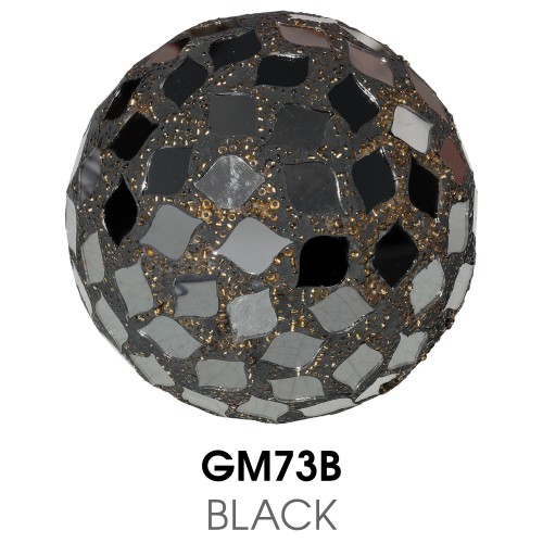 Medium Mosaic Polyform Ball - Black