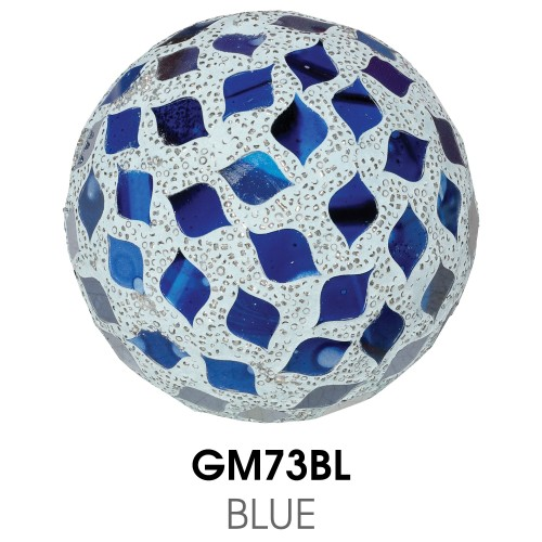 Medium Mosaic Polyform Ball - Blue