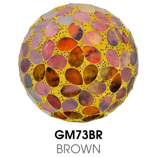 Medium Mosaic Polyform Ball - Brown