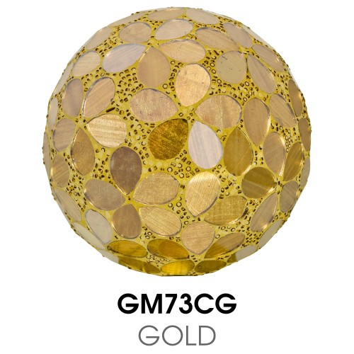 Medium Mosaic Polyform Ball - Gold