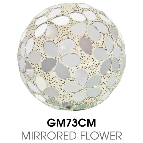 Medium Mosaic Polyform Ball - Mirrored Flower