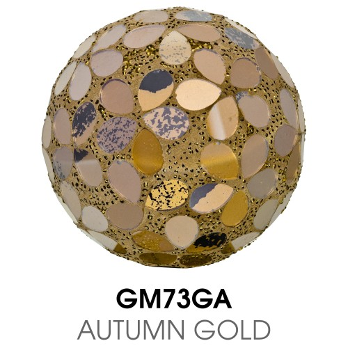 Medium Mosaic Polyform Ball - Autumn Gold