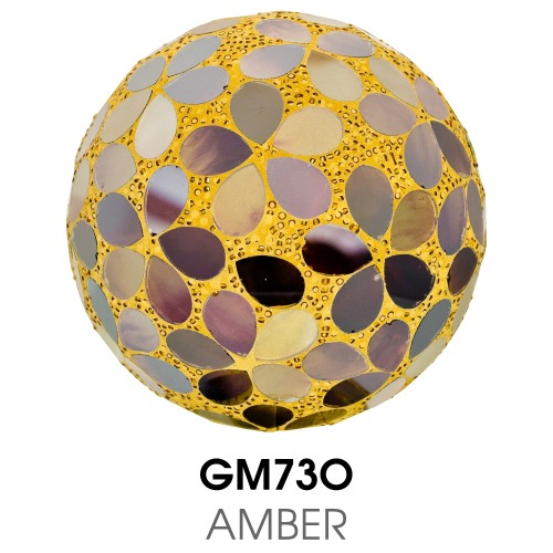 Medium Mosaic Polyform Ball - Amber