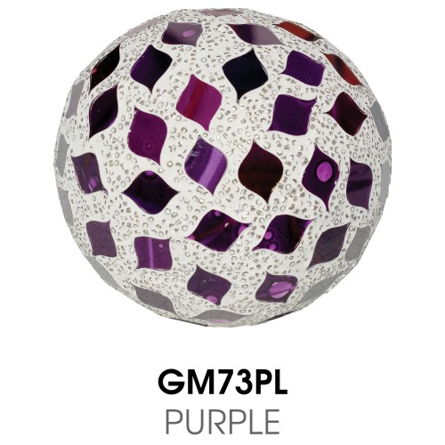 Medium Mosaic Polyform Ball - Purple