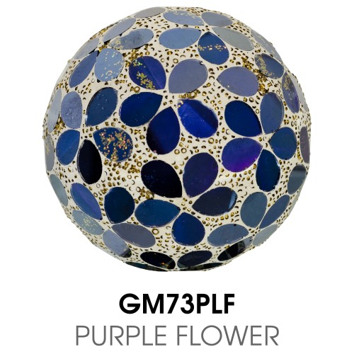 Medium Mosaic Polyform Ball - Purple Flower