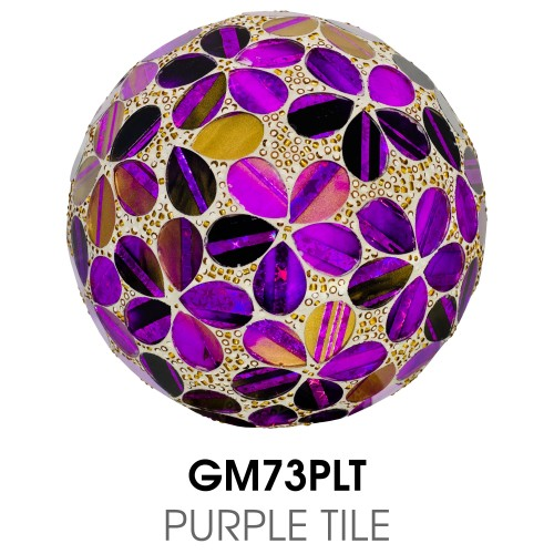 Medium Mosaic Polyform Ball - Purple Tile