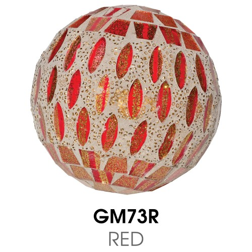 Medium Mosaic Polyform Ball - Red
