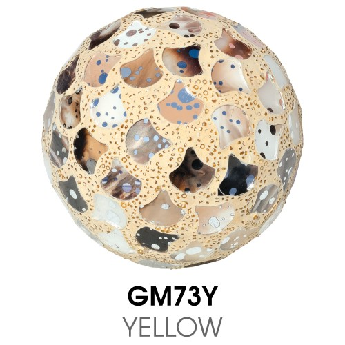Medium Mosaic Polyform Ball - Yellow