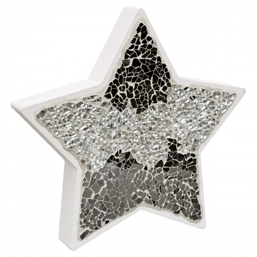 Mirrored Mosaic Glass Standing Star Decoration