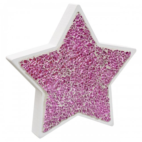 Pink Mosaic Glass Standing Star Decoration