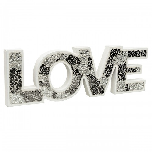 Mirrored Mosaic Glass Standing Love Letters Decoration