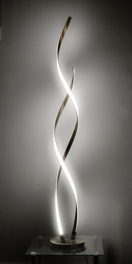 LED double twist lamp in our showroom