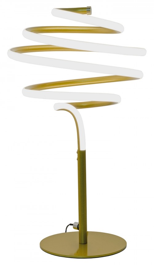 LED Spiral Gold Table Lamp