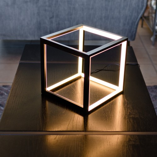 LED Black Box Table Lamp in our Showroom