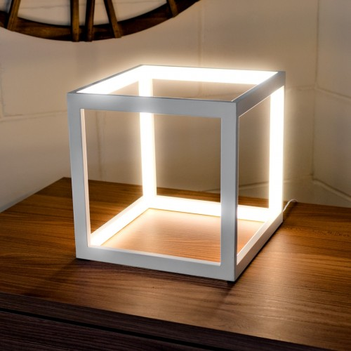 LED White Box Table Lamp in our Showroom