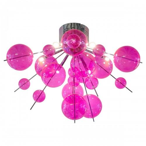Hot Pink Bauble Ceiling Light