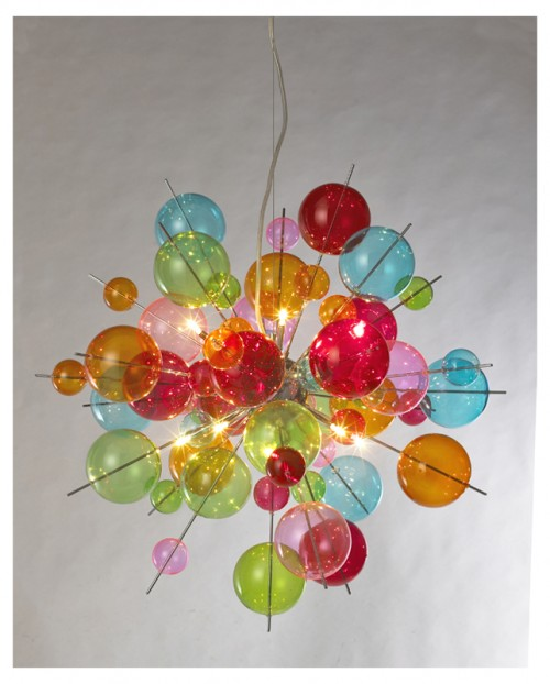 Multicolour Bauble Chandelier