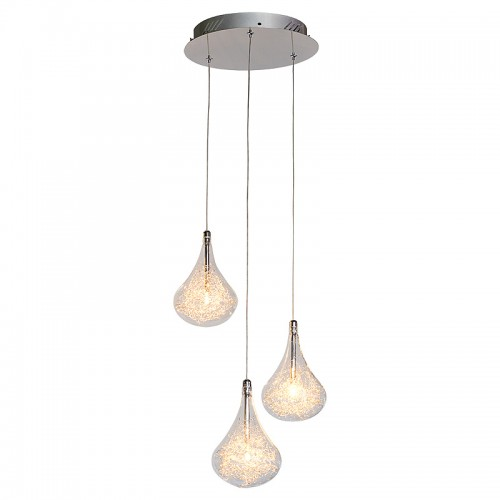 Pear Drop 3 Bulb Ceiling Light