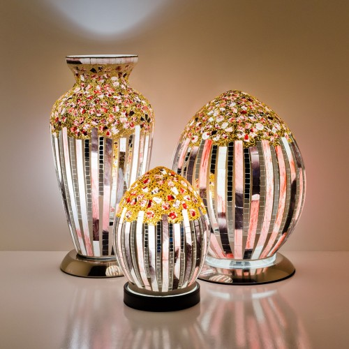 Mosaic Glass Lamps - Art Deco Together