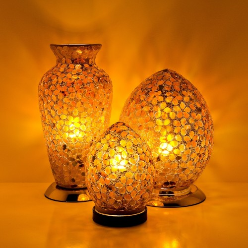 Mosaic Glass Lamps - Brown Together