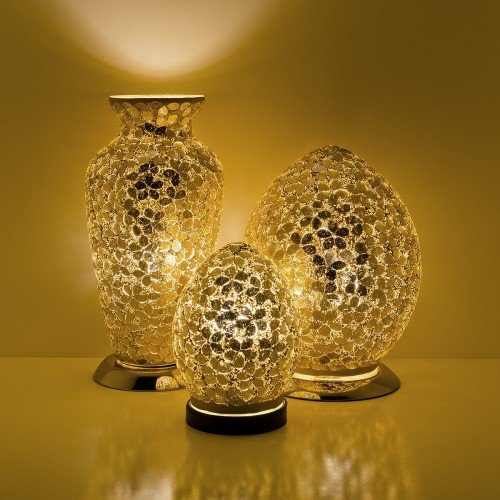 Mosaic Glass Lamps - Gold Together
