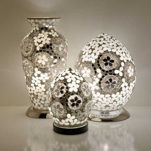 Mosaic Glass Lamps - Mirrored Art Deco Together